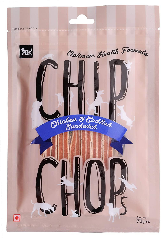 Chip Chops Chicken and Codfish Sandwich Dog Treat