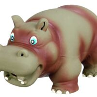 Trixie Latex Hippo Dog Toy original Animal Sound, 17 Cm